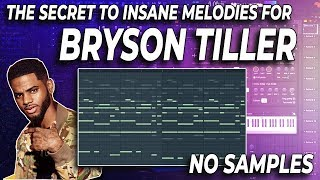 how to make INSANE melodies for bryson tiller with NO SAMPLES