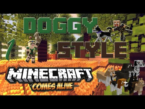 DOGS MINECRAFT COMES ALIVE - Episode 1 | NEW VILLAGES!