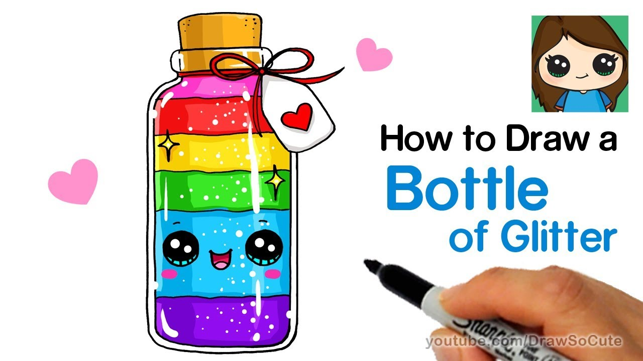 How to Draw a Bottle of Glitter