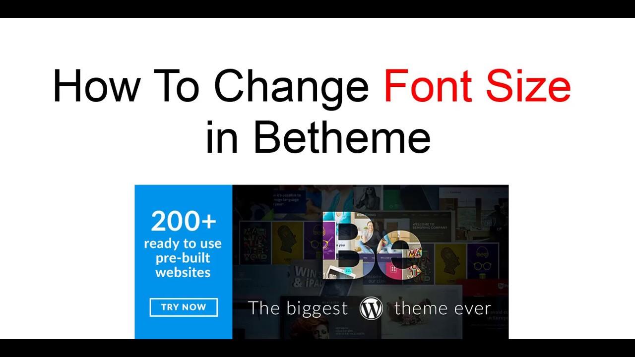 How To Change Font Size in Betheme | Wordpress Tutorial