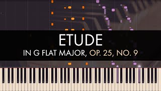 Frédéric Chopin - Etude in G flat Major, Op. 25, No. 9 (Synthesia)