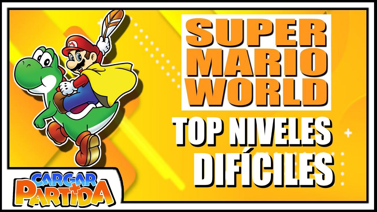 TOP 7: Super Mario World Niveles Frustrantes y Difíciles || CARGAR PARTIDA