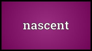 Nascent Meaning