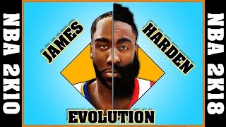 JAMES HARDEN evolution [NBA 2K10 - NBA 2K18]