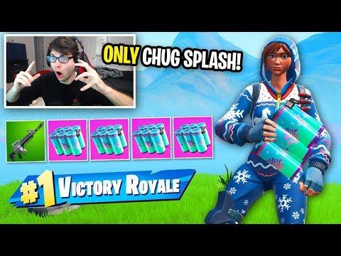 I can only HEAL using Chug Splash in Fortnite... (so hard)