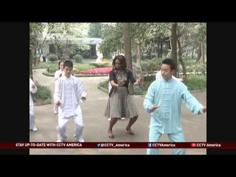 U.S. First Lady Michelle Obama Visits Chengdu