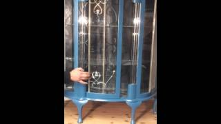 Antique Painted Art Deco Display Cabinet