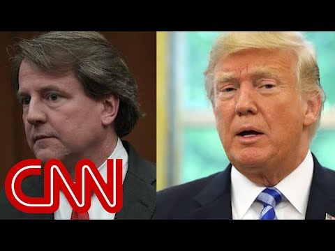 WH asked McGahn to say Trump didn't obstruct justice