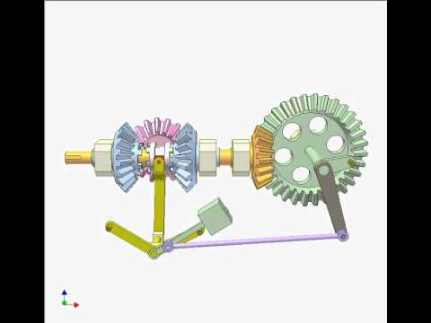 Bevel gear clutch for changing rotation direction 2