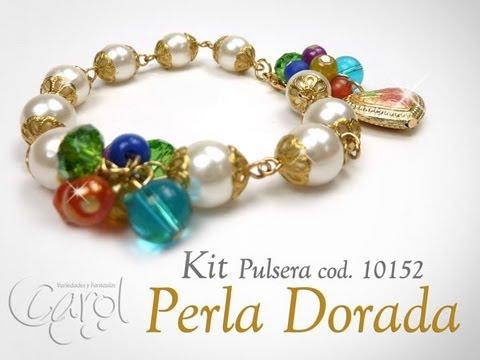 7cba6a001b57 Como hacer pulseras con perlas y tapabolas KIT 10152
