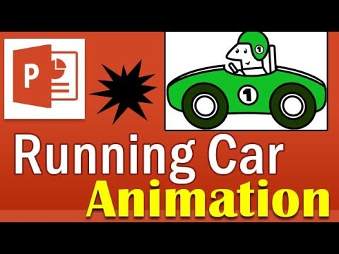 Running Car Animation In Powerpoint Youtube