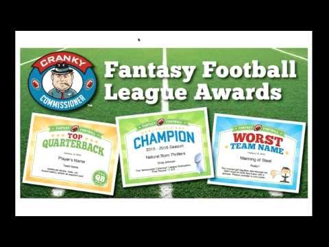 Fantasy Football Awards Certificates