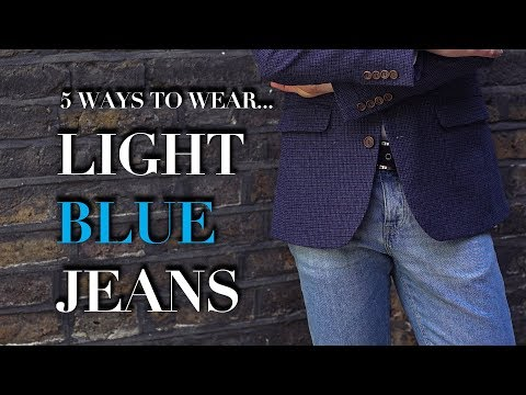 Men's Light Blue Jeans   How To Wear   Trend Tested