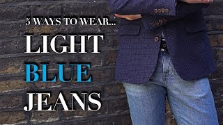 Men's Light Blue Jeans | How To Wear | Trend Tested