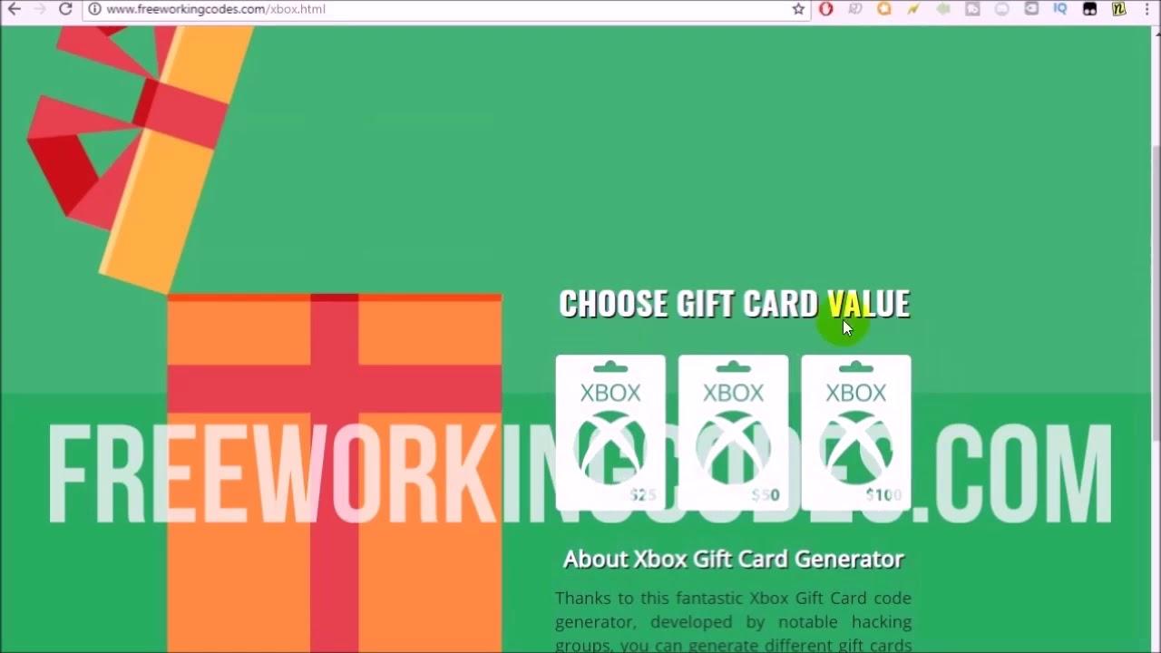 Carte Cadeau Xbox Gratuit Sans Verification.Code Carte Cadeau Xbox One Gratuit 2018