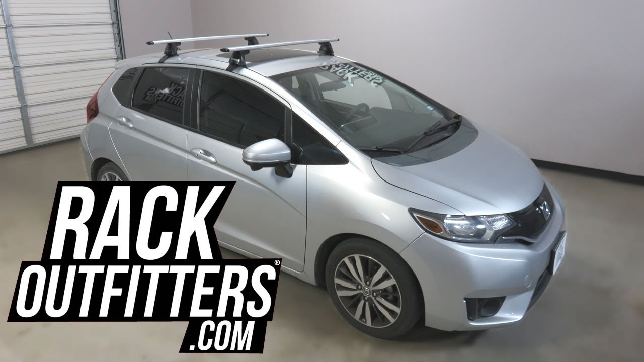 2015 Honda Fit With Yakima Baseline Jetstream Roof Rack Crossbars