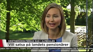 Kristdemokraternas dag i Almedalen - Vi har träffat Ebba Busch Thor - Nyheterna (TV4)
