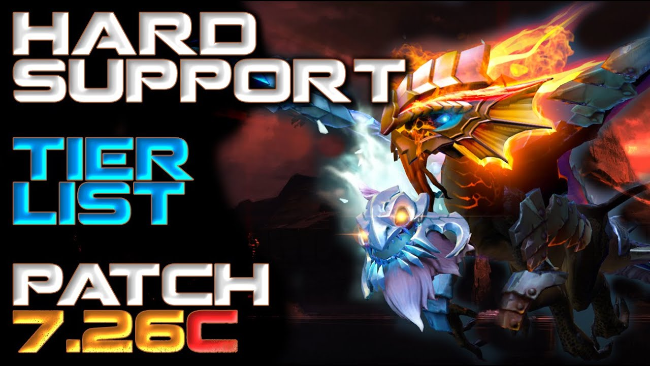 5 Role Hard Support Hero Tier List Patch 7 26c Dota 2 Youtube