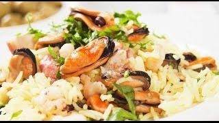 видео Морепродукты с рисом