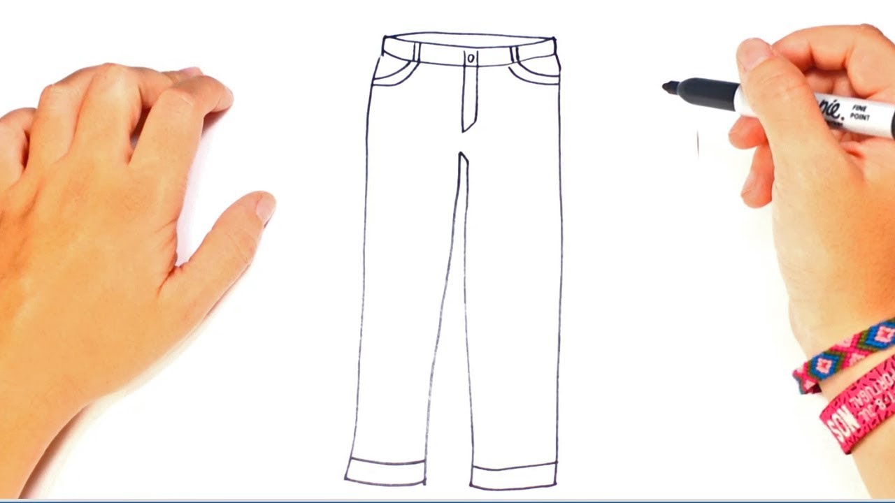 Colorear Dibujo Pantalón En Línea: Cómo Dibujar Un Pantalones Paso A Paso