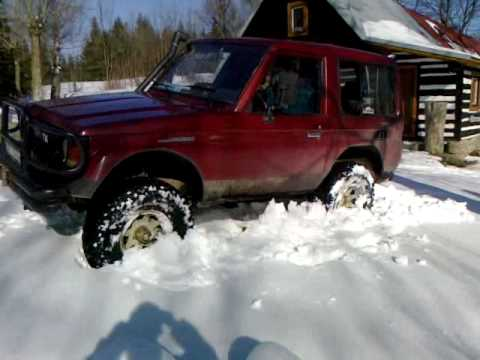 TOYOTA Land Cruiser LJ 70 1987 In Snow YouTube