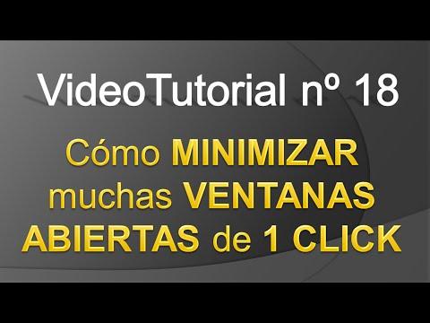 TPI - Videotutorial nº 18 - Cómo minimizar ventanas de un click