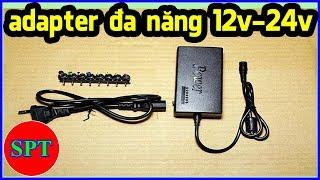 Sạc laptop đa năng, adapter laptop đa năng 12V-24V SPT Shop