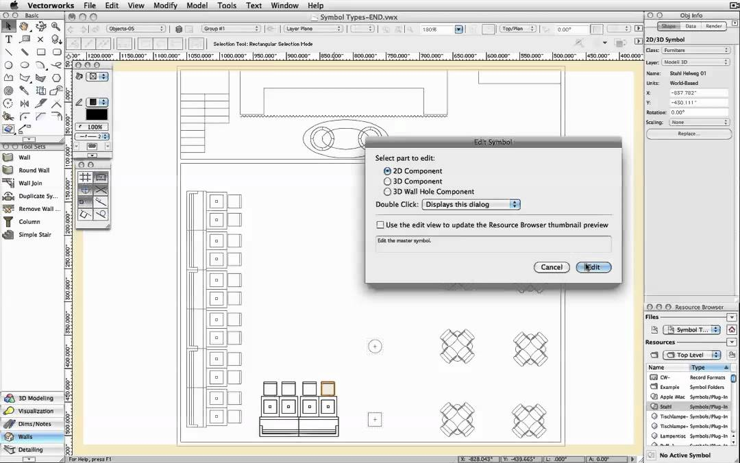 Symbol Names In Vectorworks Youtube