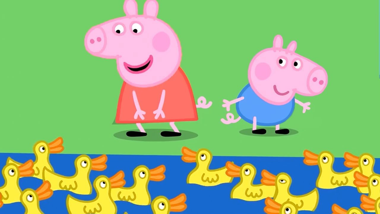 Peppa Pig English Episodes   Peppa at Duck Land!   Cartoons for Children