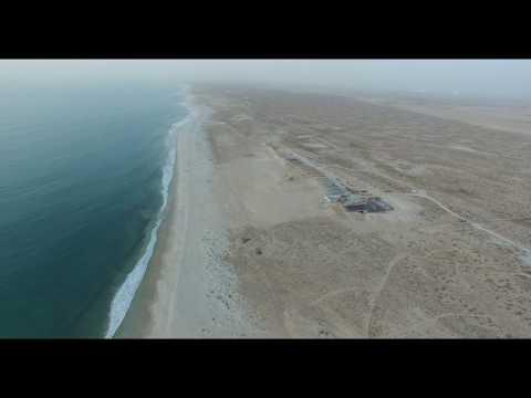 DJI Phantom 3 Le Soultane beach Nouakchott, Mauritania