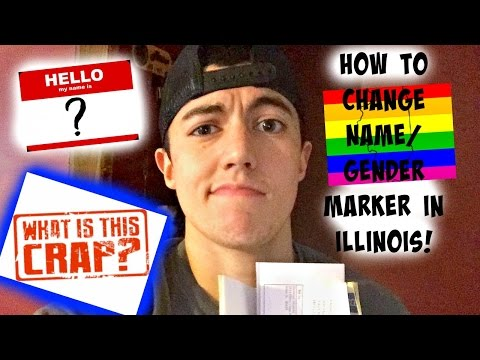 how to change name/gender marker in Illinois