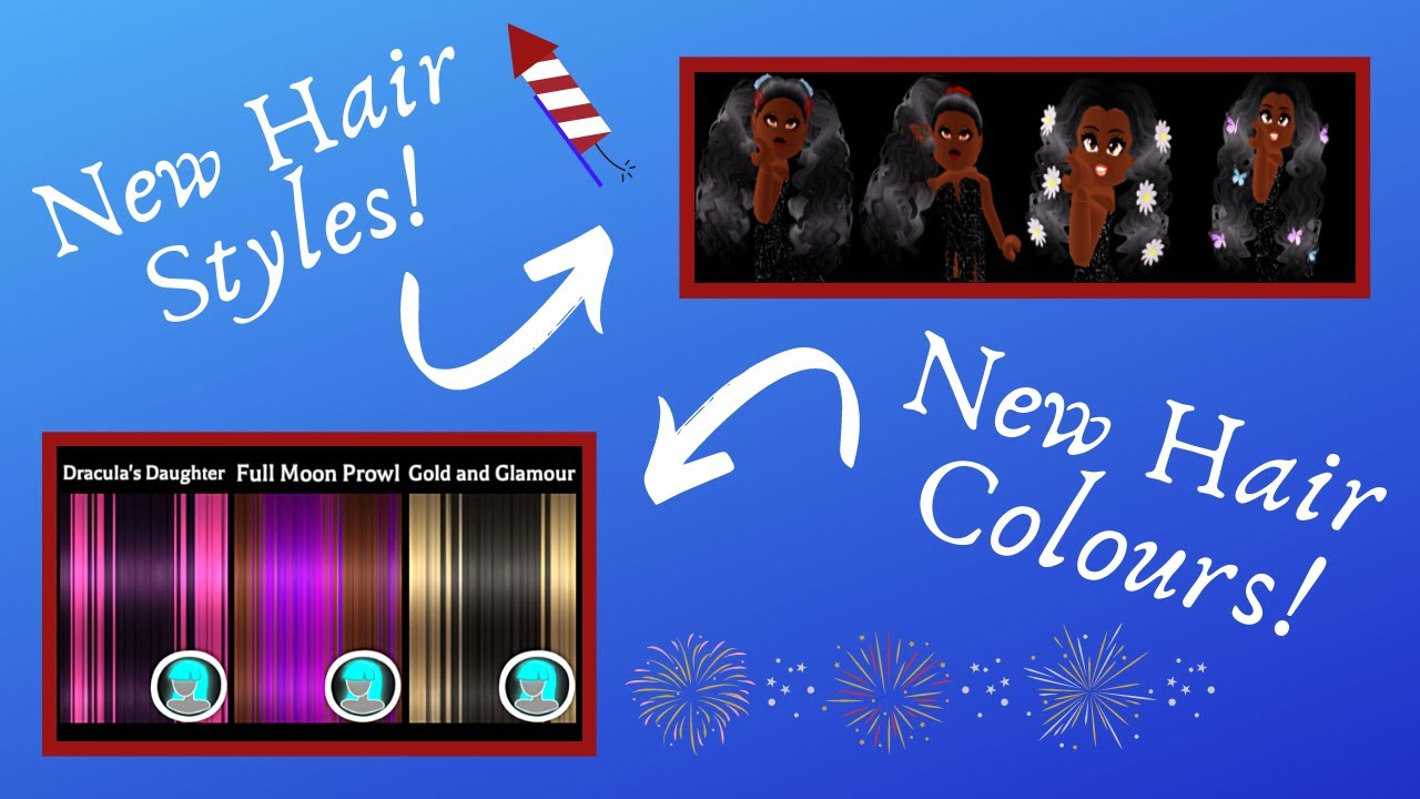 4th Of July Update With New Hair Styles And Hair Colours! - Royale🏰High - Roblox