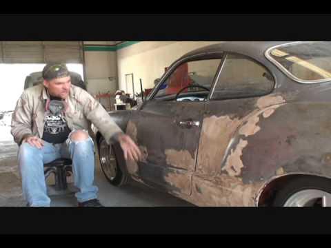 1969 Volkswagen Karmann Ghia-How To Remove Old Bondo. Part 1