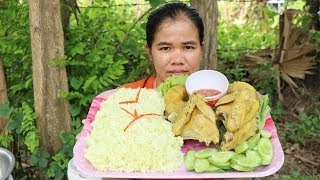 Amazing Cooking Rice Chicken Delicious Recipe - Eating rice chicken Delicious  -Primitive Technology