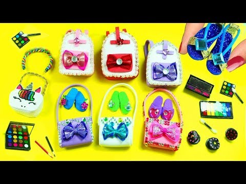 10 DIY Miniature Accessories - 10 Easy DIY Miniature Doll Crafts in 10 minutes - Doll Accessories