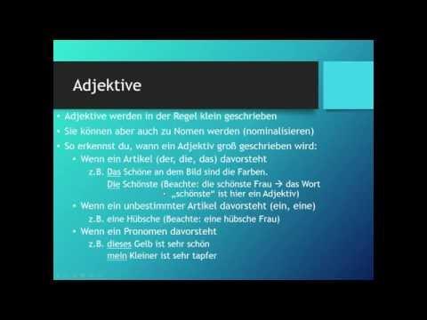 Groß- und Kleinschreibung | Deutsch | Grammatik