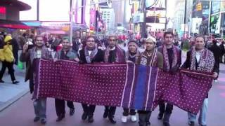 Sindhi Topi & Ajrak Day USA,  March in New York- Mahboob Dahani