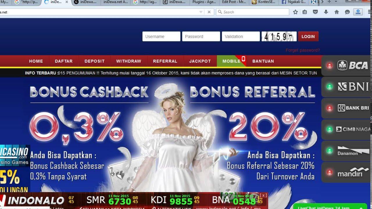 Inidewa Net Agen Poker Domino Qq Ceme Blackjack Online Indonesia Youtube