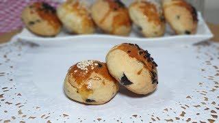 Kurabiye tadında mini zeytinli poğaça tuzlu ikramlıklar kolay tarifler