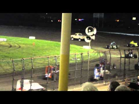 Silver Dollar Speedway | USAC Feature 3/11/11-Part 1 (Wreck and Flip)