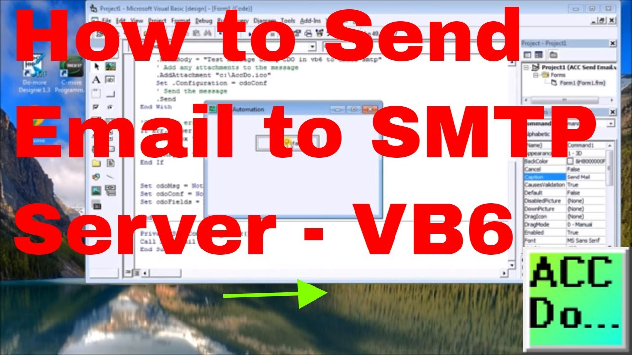 How to Send Email to SMTP Server | Acc Automation