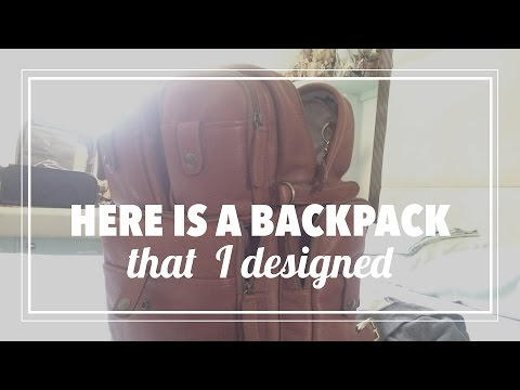 Here is a backpack that I designed