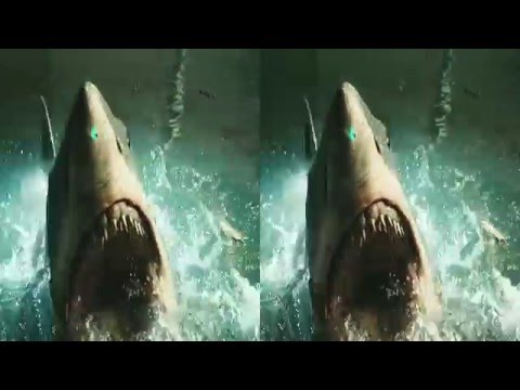 3D SBS Shark Bait Parody Music Video Stereoscopic Google Cardboard