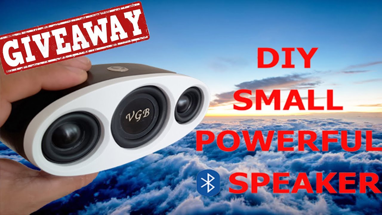 DIY SMALL AND POWERFUL BLUETOOTH SPEAKER 2x5W |CRAZY BASS| GIVEAWAY
