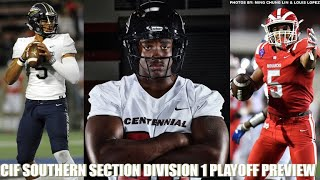 CIF Southern Section Division-I playoff preview