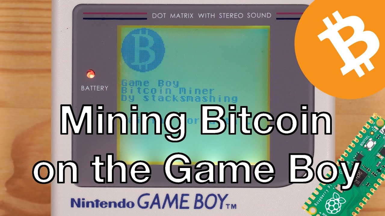 YouTuber Mines Bitcoin With His 32-Year-Old Game Boy