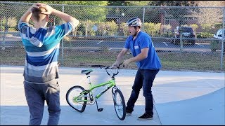 DESTROYING A KID'S BIKE & GIVING HIM A BRAND NEW ONE! thumbnail