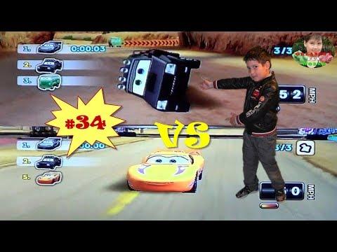 DISNEY PIXAR CARS - MATER NATIONAL - PART#34 - GUDMUND VS YELLOW & PURPLE MCQEEN