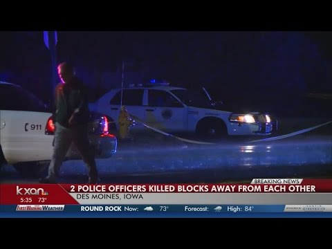 "2 officers shot ""ambush"" style in Des Moines"