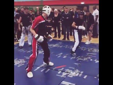 Spinning kicks at Wuma competition.